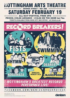 Poster for Record Breakers gig on 19th Feb | by Hello Thor