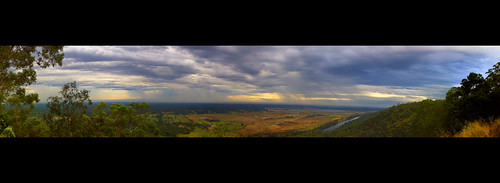 trees panorama storm colour 20d rain clouds sunrise canon river gum eos view pano australia bluemountains nsw edwin eos20d penrith penrithlakes gumtrees emmerick edwinemmerick