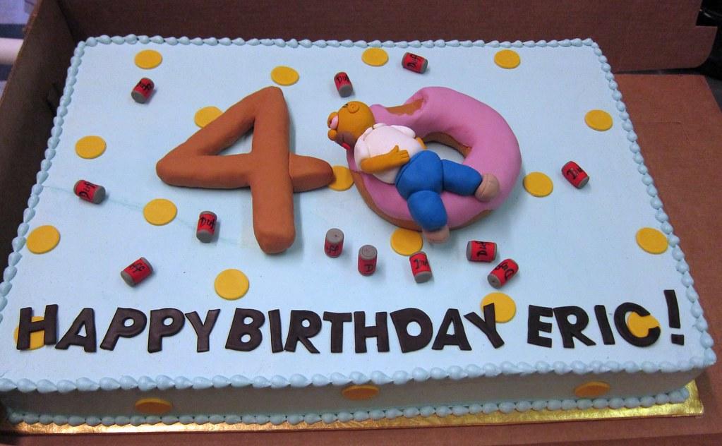 Surprising Homer Birthday Cake Polkadots Olga Flickr Funny Birthday Cards Online Sheoxdamsfinfo