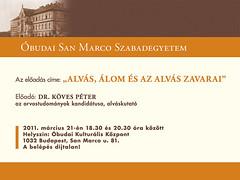 2011. február 25. 14:30 - Dr. Köves Péter: Alvás, álom és az alvás zavarai
