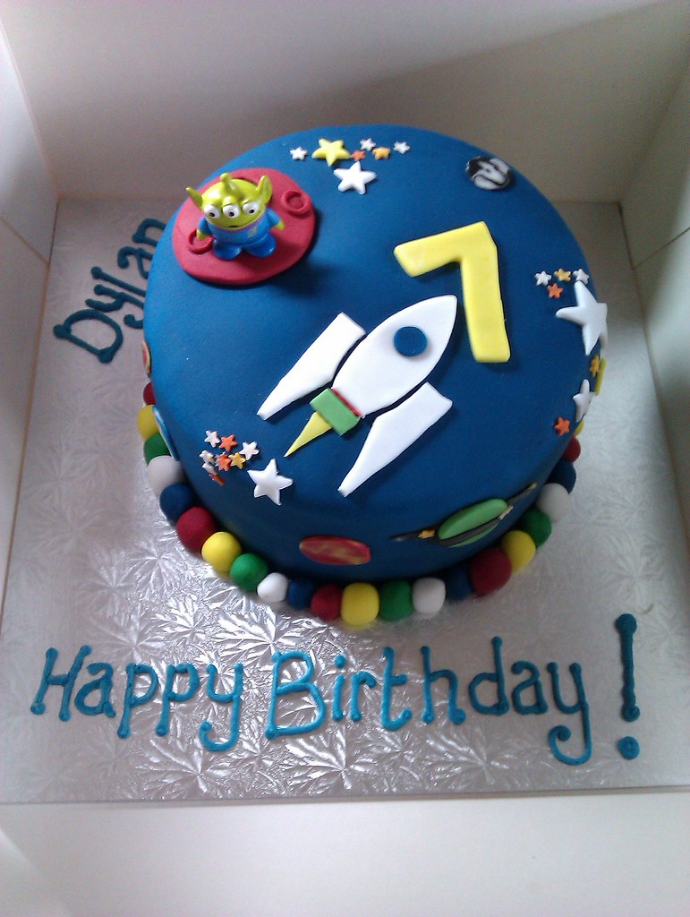 Tremendous Space Theme Birthday Cake Space Theme Birthday Cake Dark Flickr Funny Birthday Cards Online Inifofree Goldxyz