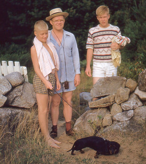 New Hampshire - Loyd, Dad, Roger, Duchess (1953)
