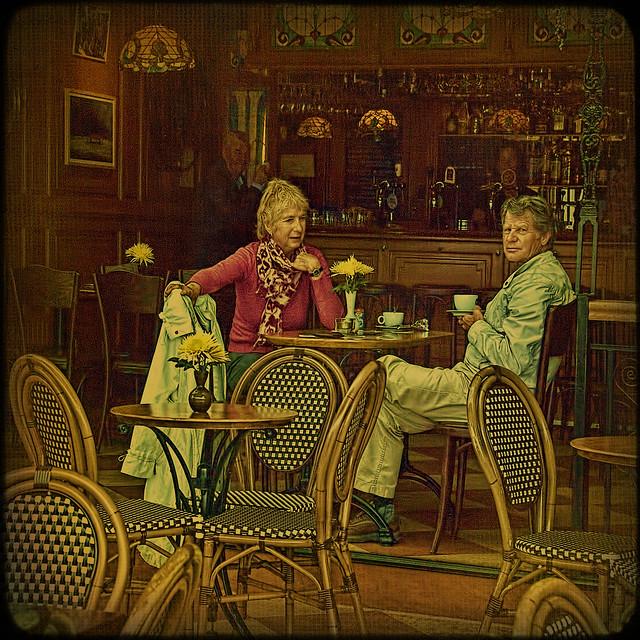 Volendam. Coffee talk.