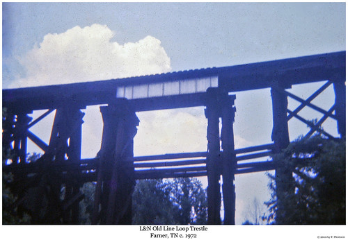 railroad trestle bridge train tennessee railway trains ln louisvillenashville farner oldline