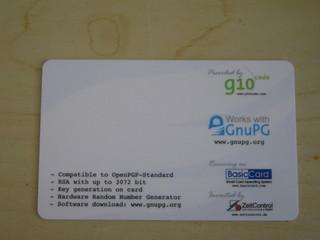 OpenPGP 2.0 smartcard back