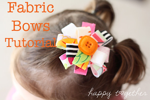 Fabric Bow Tutorial | by ohsohappytogether