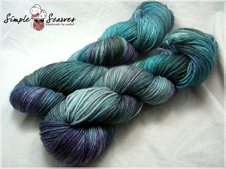 Handdyed Superwash MCN in Sherwood   by meiteoh