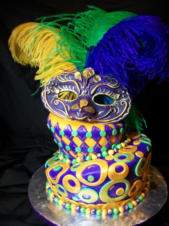 Incredible Mardi Gras Birthday Cake Hand Made Gumpaste Mask Topsy Tur Flickr Funny Birthday Cards Online Alyptdamsfinfo