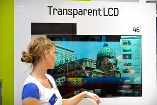 CeBIT 2011 - Samsung Transparent LCD | by Patrick H~