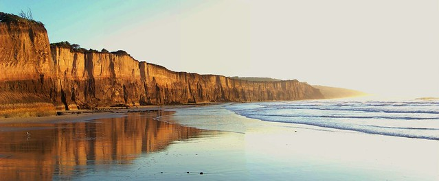 Point Addis Marine National Park, dawn at the Anglesea cliffs panorama 1