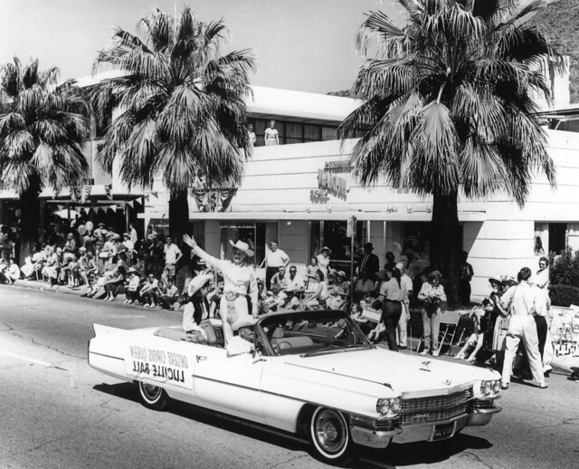 Lucille Ball as Grandmaster of the Western Days Parade in Palm Springs, CA