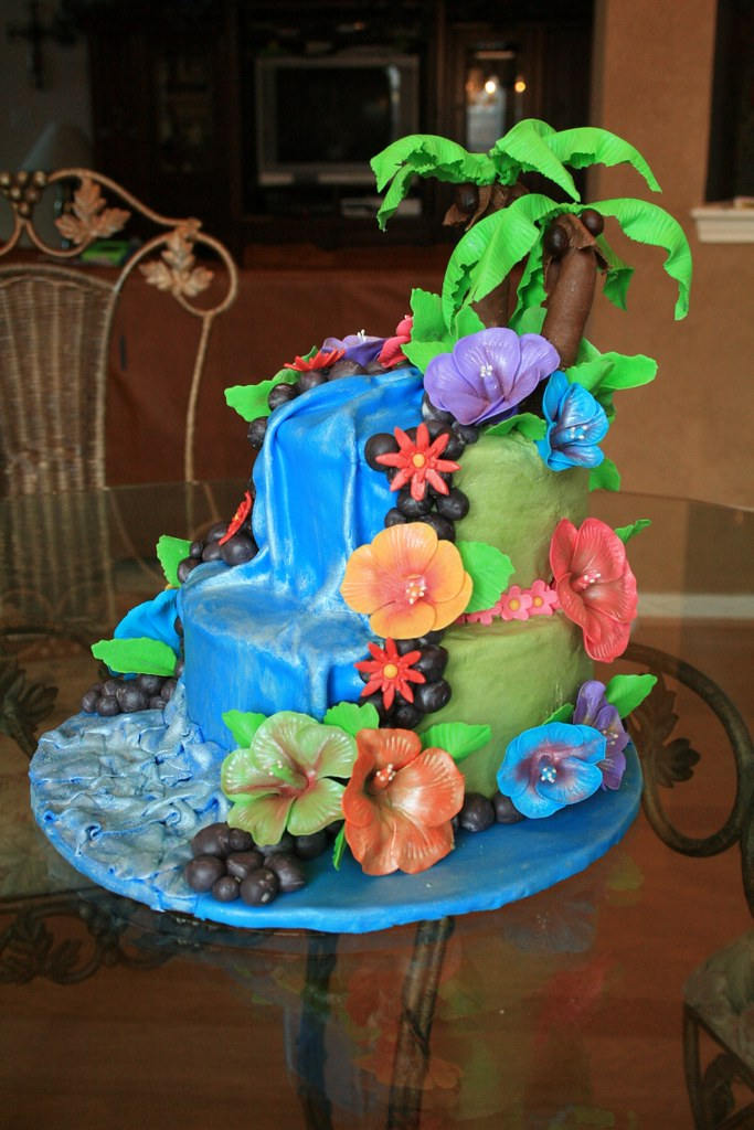 Hawaii Theamed Birthday Cake