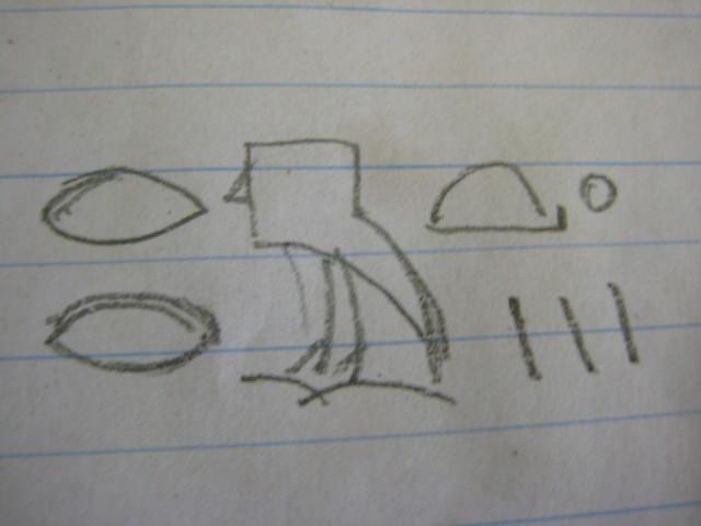 Mandragora autumnalis - in Hieroglyphics