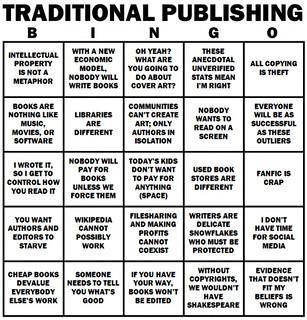 The Traditional Publishing Bingo Card | by Shmuel 510