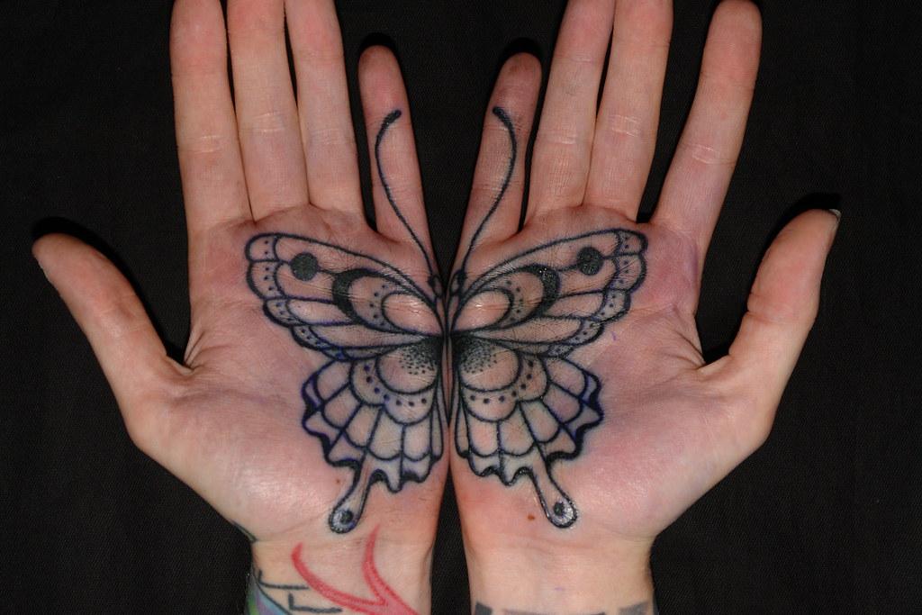 281282696c41b Palm Butterfly On Rose Hardy | Koru Tattoo | Flickr