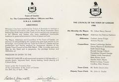 Freedom of the Town given to  HMAS Gawler 26April1986 (2)