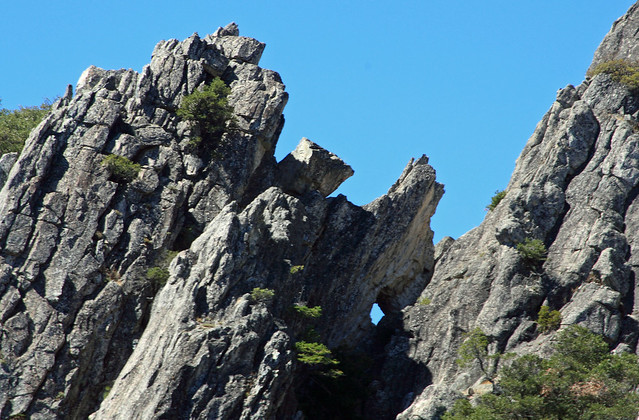 Check out the little window in the Crags