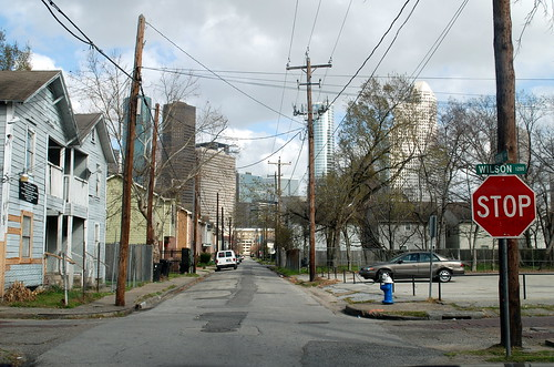 Old Third Ward Streetscape, View East to Downtown Houston   by JoeInSouthernCA