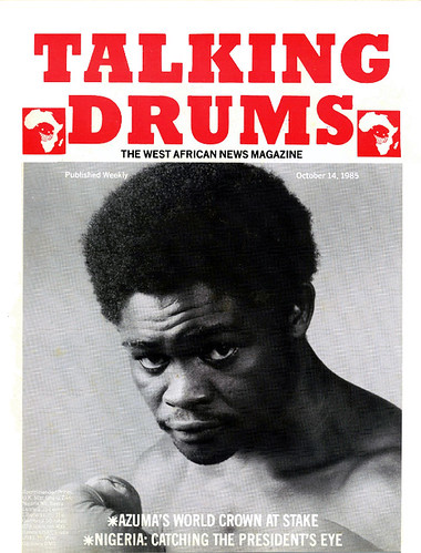 talking drums 1985-10-14 Azumah's World Crown at stake