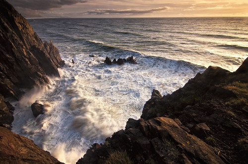 ocean sunset sea mountain water oregon coast rocks waves cliffs pacificocean epic neahkahnie