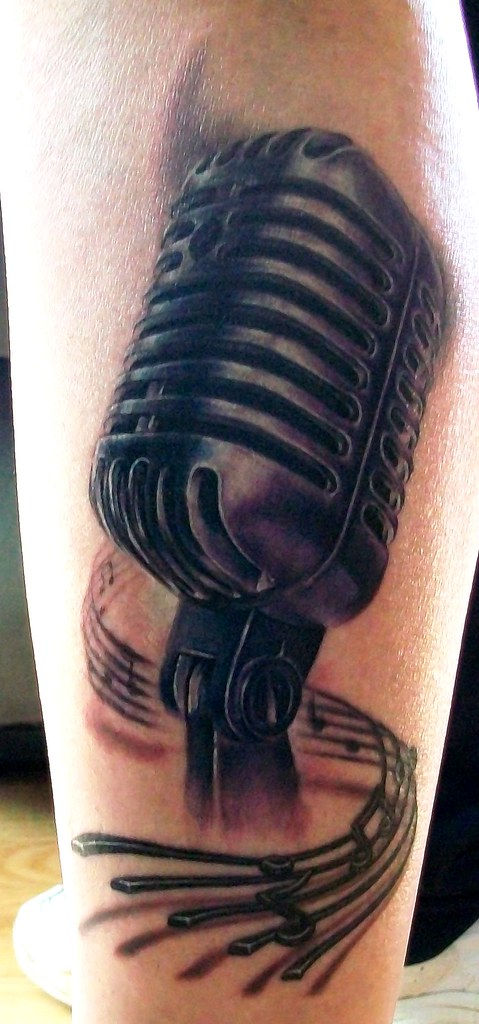 Vintage Microphone Tattoo | This was done by the amazing art… | Flickr