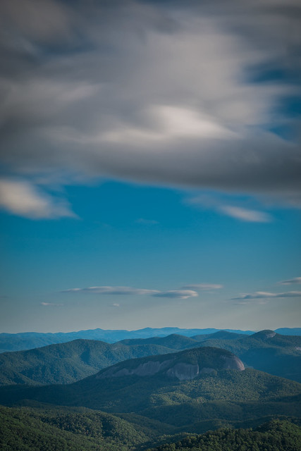Looking Glass Rock from Pounding Mill Overlook (Blue Ridge Parkway, Asheville, North Carolina)