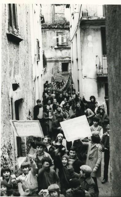 Manifestazione per la guardia medica a Pazzano anni '80 (di Tullio Carnuccio)