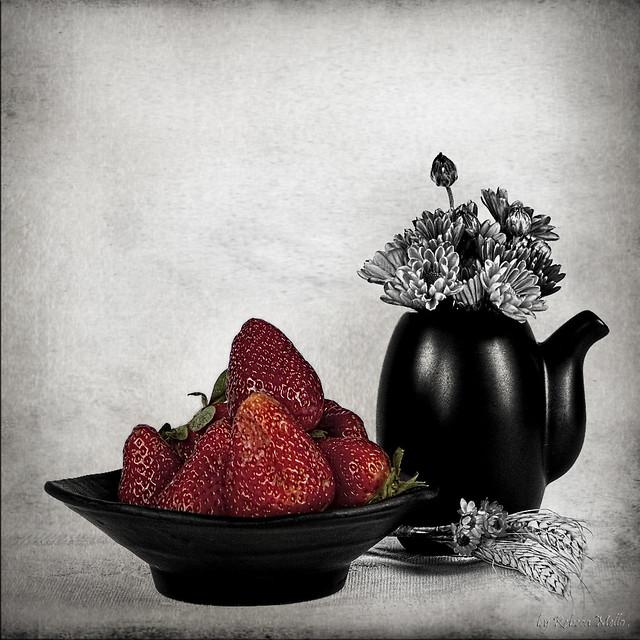 A few strawberries ....