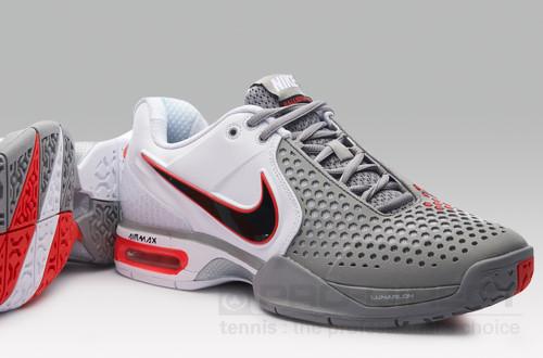Nike Mens Air Max Courtballistec 3.3 White Grey Red SSN3