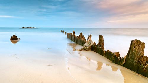 ocean beach island bay virginia sand scenery shoreline scenic shore va grandview hampton chesapeakebay sandybeach hamptonroads tidewater skynoir bybilldickinsonskynoircom