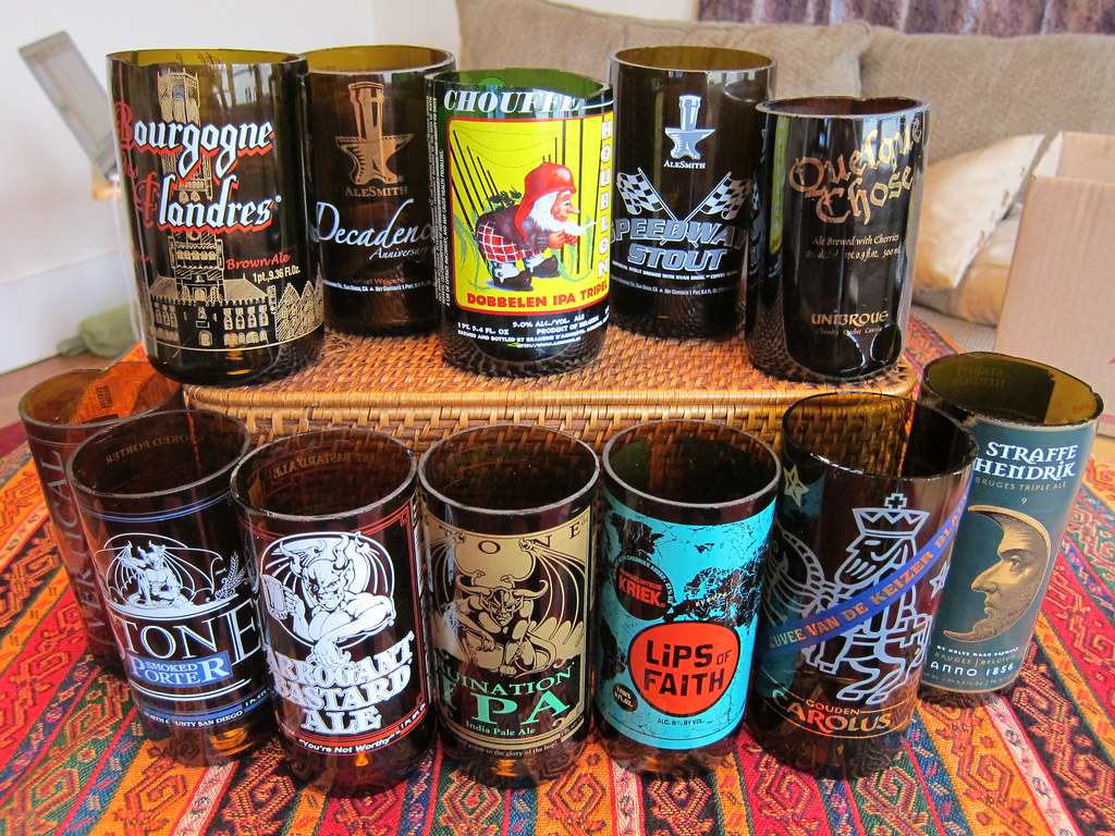 Turning Beer Bottles Into Beer Glasses My Project For