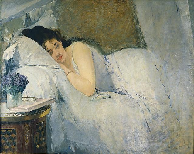 Eva Gonzalès: Awaking girl (1876)