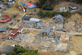 Aerial view of Oshima-Mura, Japan, 11 days after the earthquake. | by Official U.S. Navy Imagery