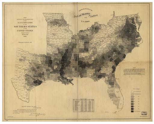 1860 Census Population Density Map Based On Data From The Flickr - Population-density-us-map