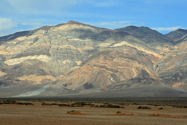 Oddly striped landscape in Death Valley