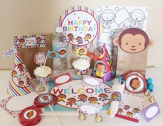 Amazing Five Little Monkeys Printable Party Package Five Little Mo Flickr Funny Birthday Cards Online Inifofree Goldxyz