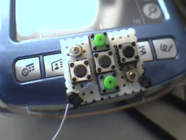 Zire 71 buttons (mod in 2005)