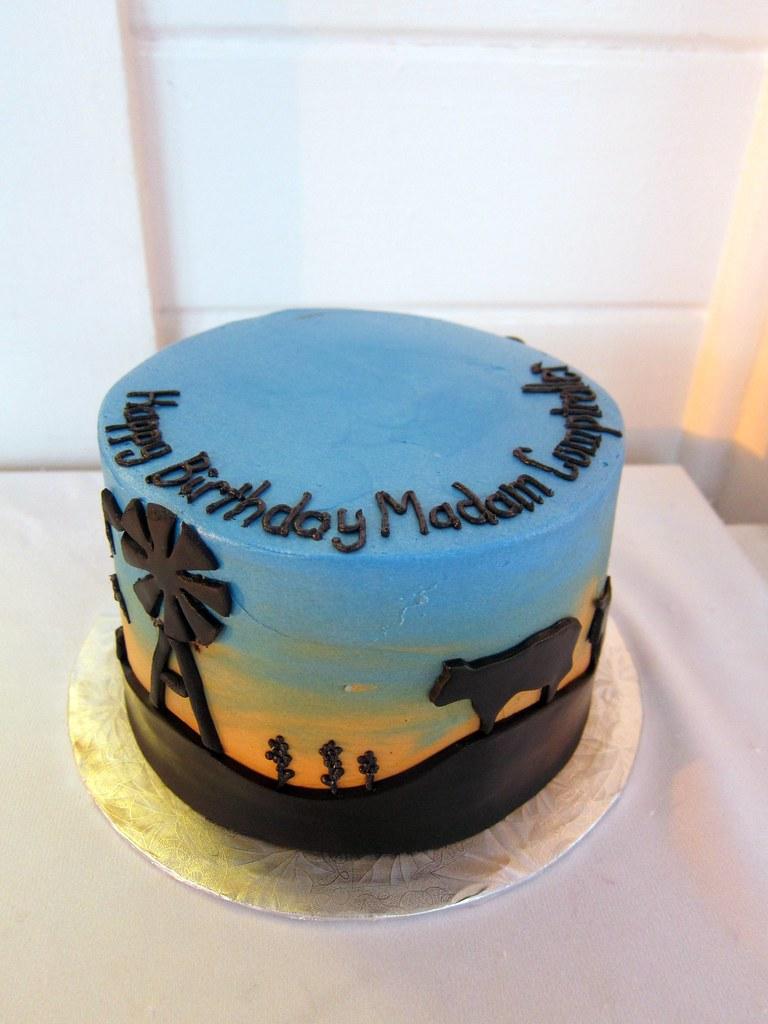 Superb Texas Ranch Birthday Cake Polkadots Olga Flickr Personalised Birthday Cards Veneteletsinfo