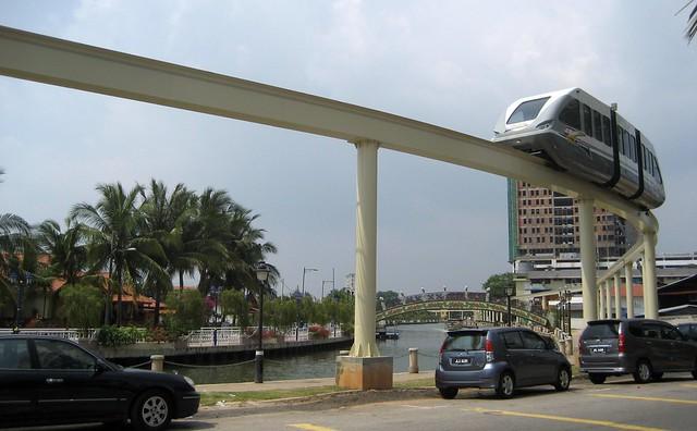 Monorail in Melaka / Malacca City (Malaysia)