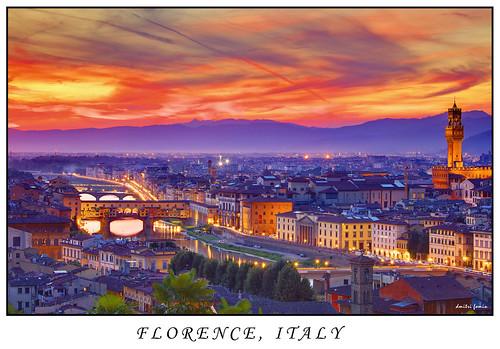sunset italy florence hills florencecathedral basilicadisantamariadelfiore florencebridge florenceduomo italianarchitechture