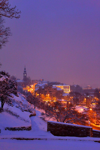 city winter orange snow streets color night landscape eos lights purple dusk romantic belgrade fortress 500d cytyscape