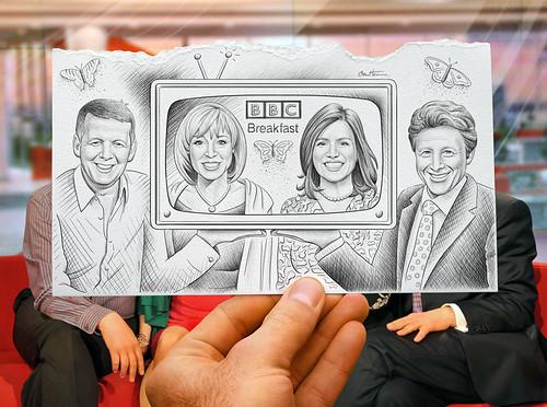 "Pencil Vs Camera for ""BBC Breakfast"" | by Ben Heine"