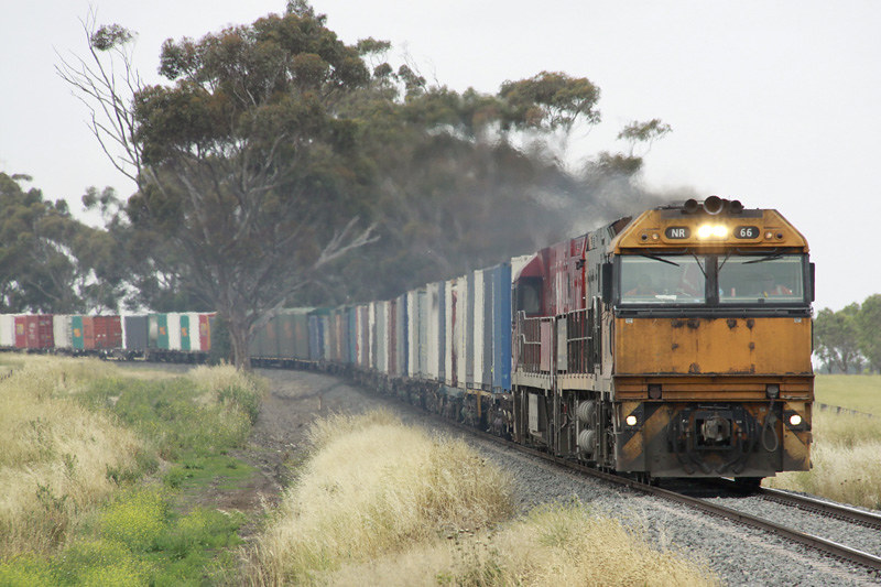 NR66 & NR75 with the Brisbane to Adelaide freight by Corey Gibson