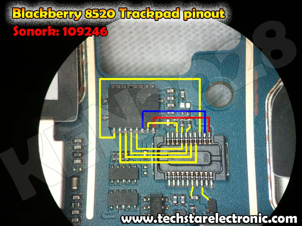 Blackberry 8520 Trackpad Pinout Track pad Jtag | www techsta