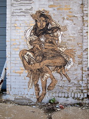 Swoon wheatpaste in St. Louis, MO by Atomic Playboy