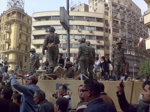Army Truck and Soldiers in Tahrir Square, Cairo | by RamyRaoof