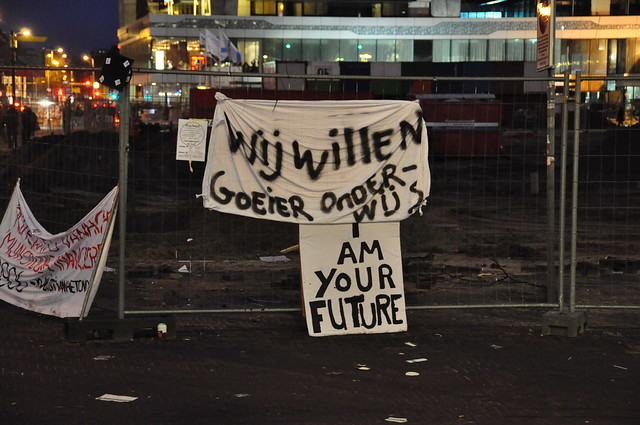 Student protest in The Hague