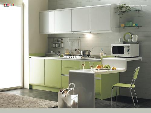 Green-Kitchen-Modern-Interior-Design-ideas-with-white-cabi ...
