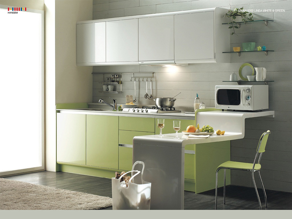 Green Kitchen Modern Interior Design Ideas With White Cabi Flickr
