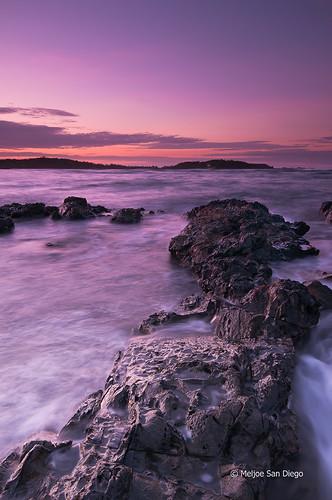 longexposure sunset sea sky seascape clouds nikon rocks philippines reverse nikkor pangasinan d300 gnd singhray leefilter sual 1024mm meljoesandiego baybaynorte